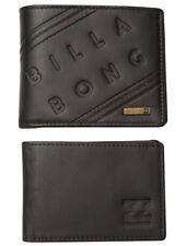 """LEATHER WALLET BILLABONG NEW MENS MEN BOYS """"BROOKLYN"""" TWO IN ONE TRIFOLD JAVA"""