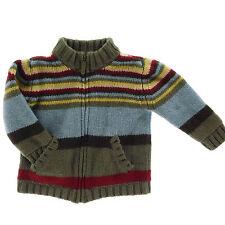 2005 Janie and Jack 18-24M Boy Winter 100% Merino Wool Sweater Cotton Lining