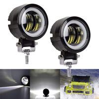 2pcs 20W Weiß LED Arbeitsscheinwerfer Lampe Traktor Motorrad UTE Quad Leuchten