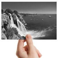 "Photograph 6x4"" BW - Waterfall Duden Antalya Turkey Ocean  #43747"