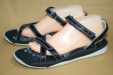 NW0B CLARKS Tresca Trace 17138 Wo's 10M Black Sport Sandals