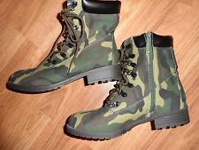 camouflage camo boots ~ womens 7 1/2 7.5 ~ green brown