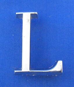 JAGUAR 'L' CHROME BOOT BADGE  XJ6 & XJ12 SERIES 1 & 2 LONG WHEEL BASE BD40964