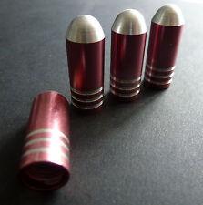 LEGA ROSA Proiettile Polvere Pneumatico Valvola Caps Per Mini Cooper Clubman One First COUPE S