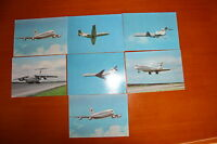 LOT OF 7 OLD Vintage RUSSIAN POSTCARDS, RUSSIAN AIRLINES USSR