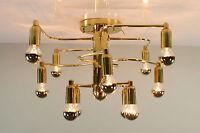 Sculptural Ceiling Lamp 12light Object Flush Mount Fixture Sciolari Leola 1970's