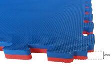 EVERMAT® 1sqm Martial Arts Tatami 20mm Judo Karate Gym Floor Mat Red and Blue