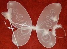 NEW White glitter with swirl fairy wings wand bopper set 45x40cm fancy dress