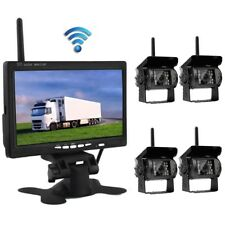 "4 x Nachtsicht Funk Kamera Rückfahrkamera + 7"" Auto Monitor LKW Rückansicht Kit"