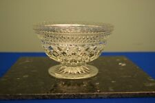 BRILLIANT PRESSED GLASS CRYSTAL DIAMOND PATTERN FOOTED BOWL