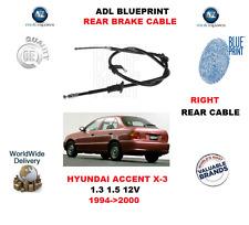 Para Hyundai Accent X-3 1.3 1.5 12V 1994 - > 2000 ADL Detrás Derecho Cable De Freno De Mano