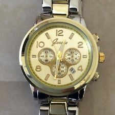 Geneva Two-Tone Women's Watch Boyfriend Classic Timeless Designer Style Date!