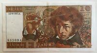 Billet De Banque 10 Francs Berlioz Du 2-6-1977 G.298 835094 1 Épinglage