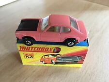 Matchbox Superfast No 54 Ford Capri Near mint - boxed Pink With Black Bonnet