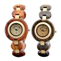 BEWELL Casual Women Maple Wooden Watch Analog Quartz Bracelet Wood Wrist Watches