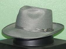STETSON STRATOLINER FLORENTINE MILAN STRAW FEDORA HAT