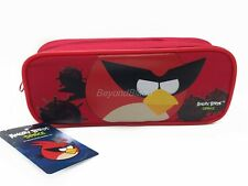 Angry Birds Red Pencil Pouch Zippered Pencil Case Authentic Bag