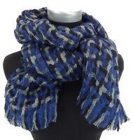 Damenschal blau schwarz grau by Ella Jonte Schal Herbst Winter wärmend neu