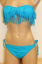 NWT Guess Swimsuit Tie Side Bikini 2pc set  Sz S M Blue Strap