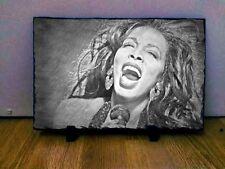 "Donna SUMMER Disegno Arte Ritratto Rock ARDESIA 12x8"" RARA cimeli Collectables"
