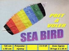 Cerf-volant voile parachute 120x50 cm kite, achat jeux de plage pas cher neuf