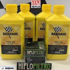 4 Lt BARDAHL XT-S XTS C60 10W50 mPlus Olio Moto Sintetico+Filtro HiFlo HF303RC