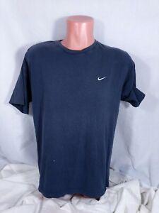 Vtg Nike T-Shirt Sz Medium Blue Swoosh Faded Worn