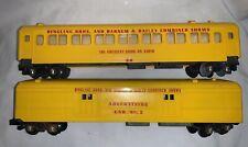 2 VTG American Flyer Lines World's Greatest Show AC Gilbert Circus Train Car