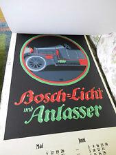 """Sonderedition """"Robert Bosch"""" Kalender 1986 mit 6 Bosch Werbeplakaten"""