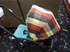 Replacement Sun Canopy for Bugaboo Stroller Bee3 BIG CHECKED