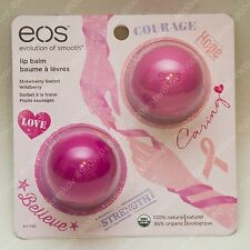 eos 2015 Breast Cancer Awareness Lip Balm 2pc set strawberry sorbet + wildberry