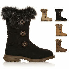 Snow, Winter Boots Synthetic Leather Slip On Shoes for Women