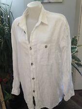 SIGNUM chemise homme manche longue coton mercerisé blanc Taille 40