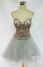 Glamour by TERANI Silver Prom Party Dress 10 - $280 NWT