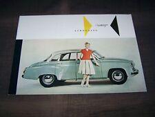 TOPRARITÄT Herrlicher Prestige Prospekt Wartburg 311 Limousine von 1959 !!!
