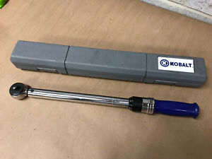 """KOBALT TOOLS 3/8"""" torque wrench 148611 with case"""