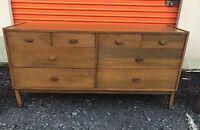 Vintage MID CENTURY MODERN Dresser Lowboy American Modern Walnut Clean