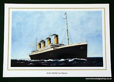 Titanic Print by P. Thurston. Size 24 x 17 inch.