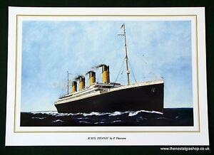 Titanic Print by P. Thurston. Size 24 x 17 inch.