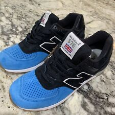 New Balance 576 M576PNB MADE IN ENGLAND Black Blue Sneakers Men's 7.5