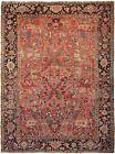 Pre-1900 Rare Antique Heriz Serapi Rug Antique Bakhshayesh 9X12 277cm x 353cm