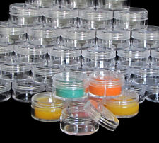 3000 Lip Balm Containers Empty Plastic Cosmetic 10 Gram Ml Jars Clear Lids #5067