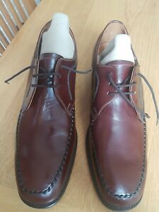 Brand New Loake Brown Leather Lace Up Shoes, Size 10