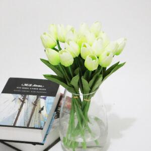 10Pcs Tulip Artificial Flower Latex Real Bridal Wedding Bouquet Home Decor