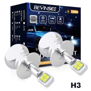 2x Bevinsee H3 LED Foglight Bulb Kit for Infiniti QX56 04-09 80W 6000K Fog Lamp