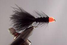12 Egg sucking leech orange head, wet fly fishing flies, mouche, pêche,
