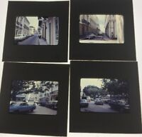 Color Slides Old Cars Street Scenes Lot Of 4
