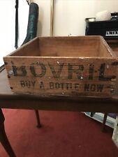More details for original bovril wood box advertising food vintage kitchen storage