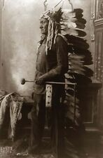 Laminado A4-Retrato Indio Nativo Americano Toro Sentado 2 carteles