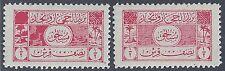 SAUDI ARABIA HEJAZ NEJD 1926 POSTAGE DUES 1/2 PIASTER PRINTING ERROR FLORAL DESI
